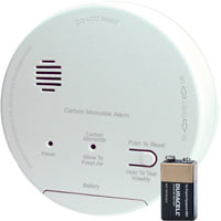 CO ALARM W/RELAY 120VAC/9VDCY